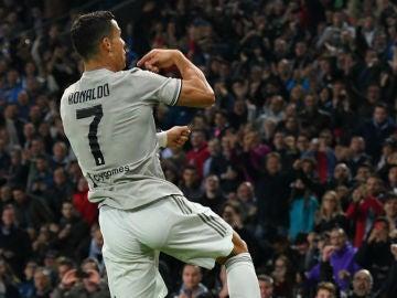 Ronaldo celebra un gol con la Juventus