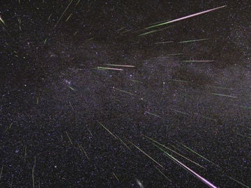 Imagen de archivo de la recreación de una lluvia de estrellas
