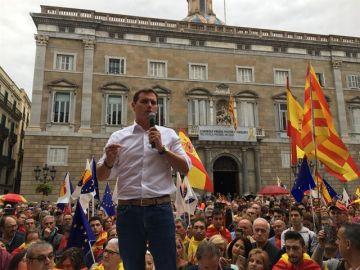 Albert Rivera en la manifestación de Barcelona