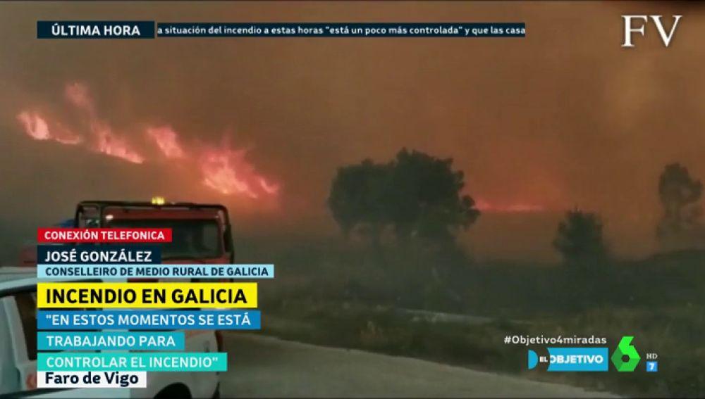 Imagen del incendio en Mondariz