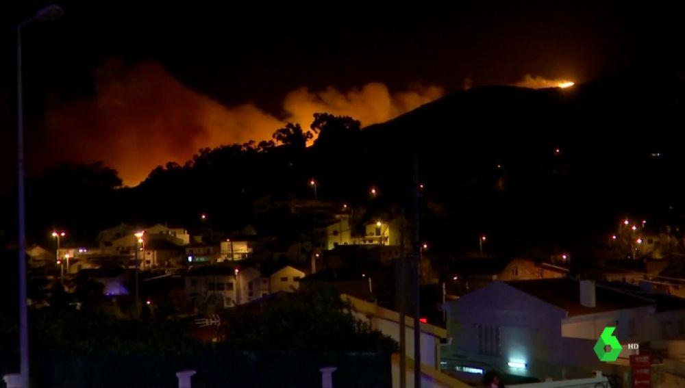 Imagen del incendio en Sintra, Portugal