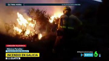 """La teniente de alcalde de Mondariz, del incendio en Pontevedra: """"No ha habido medios aéreos suficientes"""""""