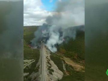 Estabilizado un incendio en A Gudiña tras calcinar 35 hectáreas