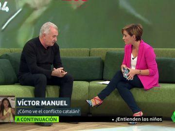 Víctor Manuel con Cristina Pardo