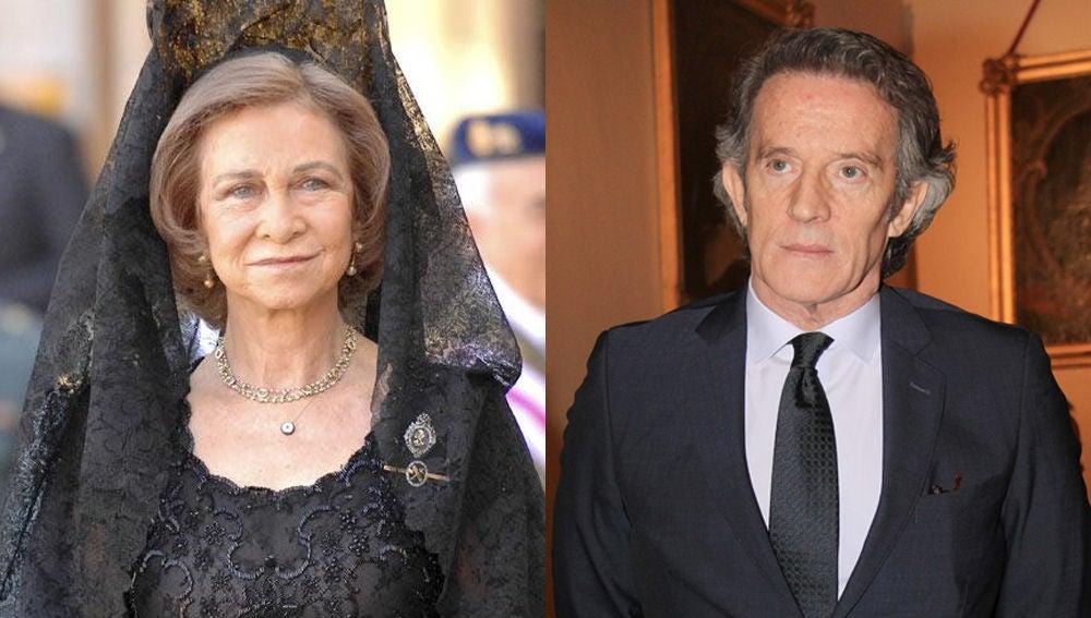 """La reina Sofía y su """"entrañable amigo"""" Alfonso Díez"""