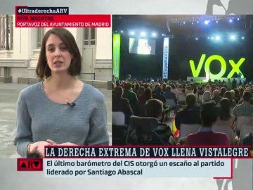 Rita Maestre analiza el aumento de apoyo a VOX
