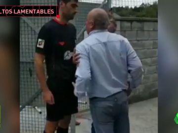 Un padre amenazó de muerte a un árbitro en Asturias.