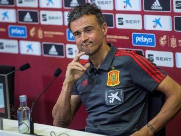 El seleccionador Luis Enrique, en rueda de prensa