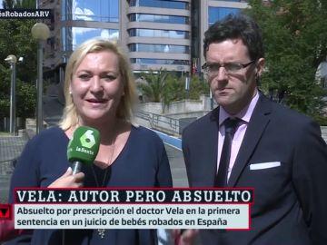 Inés Madrigal, con su abogado
