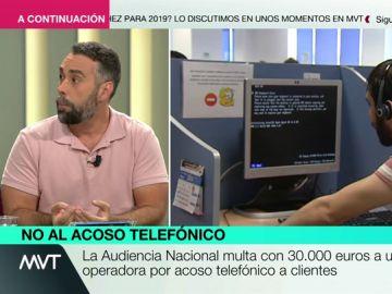 """Rubén Sánchez, sobre el acoso de las teleoperadoras: """"Si te llaman una vez, hay que avisar para que no lo hagan más. Si lo vuelven a hacer, se puede denunciar"""""""