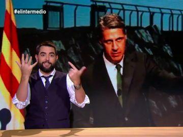 """Dani Mateo, tras el anuncio de Albiol: """"Se sacó un máster de Matemáticas Aplicadas en la Universidad Rey Juan Carlos""""."""