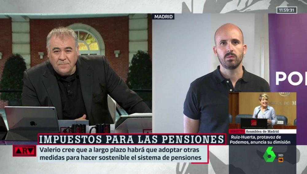 Antonio García Ferreras y Nacho Álvarez, de Podemos