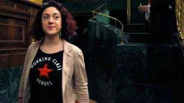 La portavoz de Unidos Podemos en la comisión del Pacto de Toledo, Aína Vidal