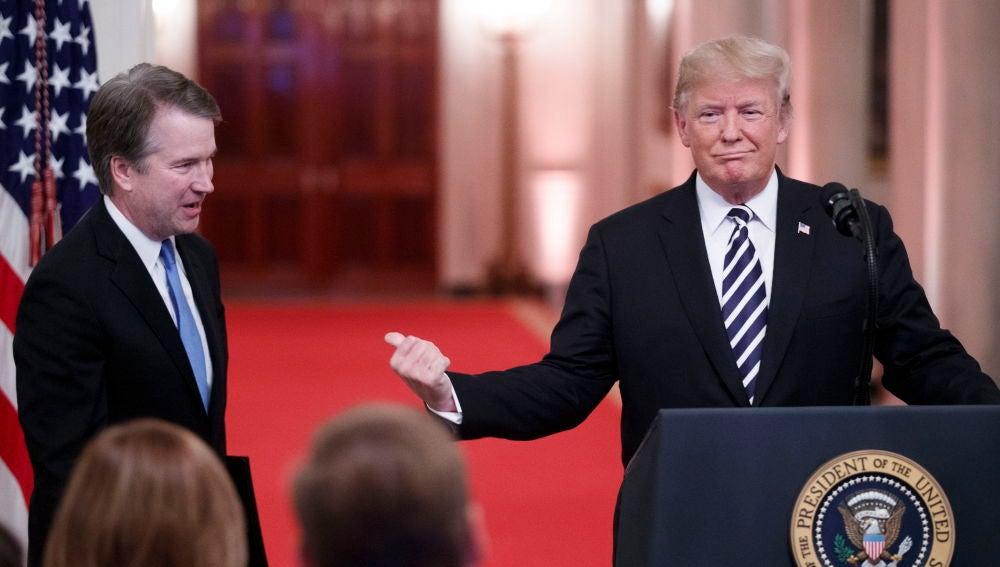 El presidente de EEUU, Donald Trump, junto al juez Kavanaugh