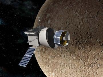 Recreación de la misión BepiColombo rumbo a Mercurio