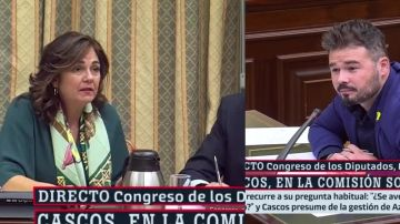 En la imagen, Beatriz Escudero y Gabriel Rufián