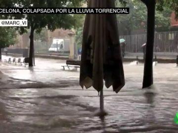 Colapso en Barcelona por las fuertes lluvias en Barcelona