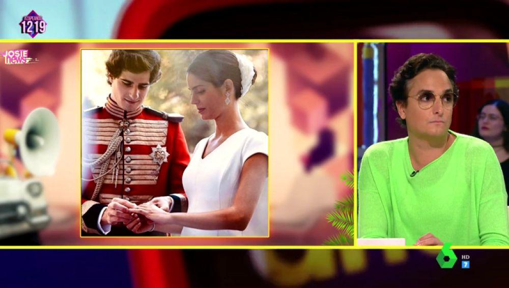 Josie  y el look de Sofía Palazuelo en su boda con Fernando Fitz-James Stuart