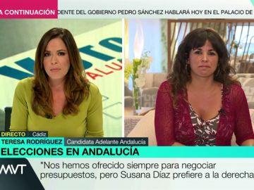 """Teresa Rodríguez, tras el adelanto de las elecciones: """"Nos hemos ofrecido siempre para negociar presupuestos, pero Susana Díaz prefiere a la derecha"""""""