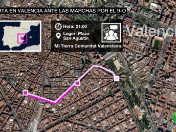 Así serán las manifestaciones de la ultraderecha y la izquierda en el 9 d'Octubre y el dispositivo policial para controlarlas