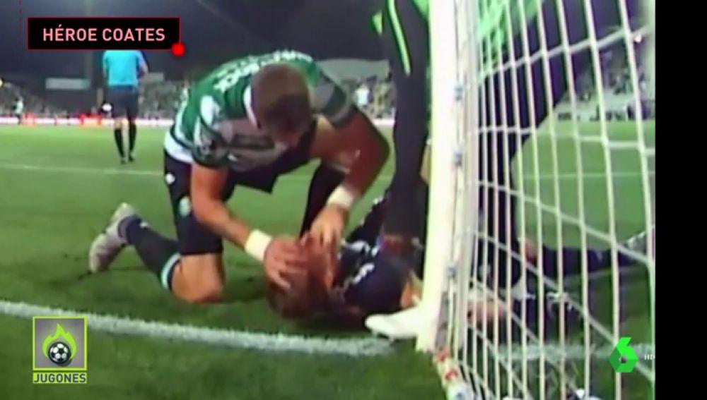 Así salvó Sebastián Coates la vida al guardameta del Sporting de Lisboa