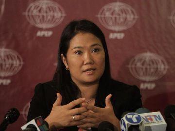 En la imagen, la líder del partido Fuerza Popular, Keiko Fujimori