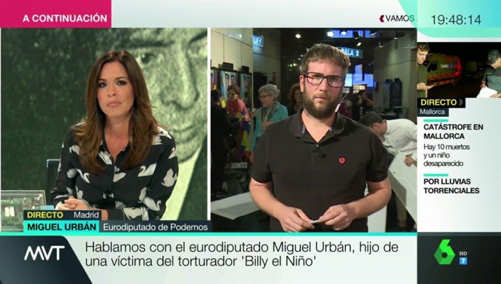 """Miguel Urbán, hijo de una víctima de Billy el Niño: """"¿Qué le pasa a la democracia para que un torturador pueda estar en una comisaría bebiendo vino?"""""""
