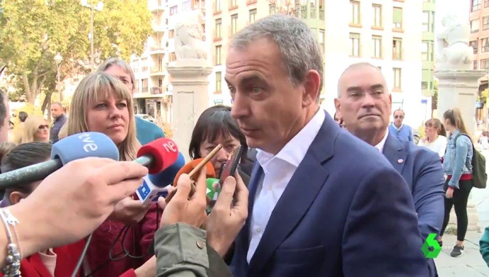 """Rodríguez Zapatero: """"Los independentistas no pueden mantener el viaje a ninguna parte, es una pérdida de tiempo"""""""