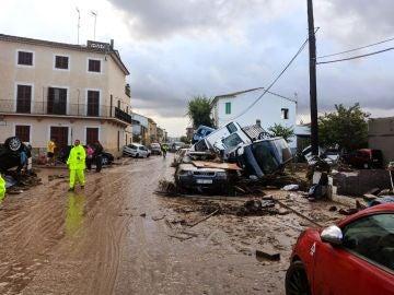 Aspecto que presentaba una calle de la localidad de Sant Llorenç des Cardassar