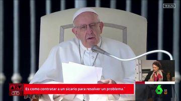 """El papa Francisco compara el aborto con """"contratar a un sicario para resolver el problema"""""""
