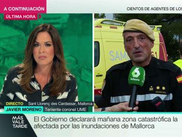 """Un teniente coronel de la UME, sobre lo ocurrido en Mallorca: """"El panorama es dantesco. Las inundaciones son las que más dolor dejan"""""""