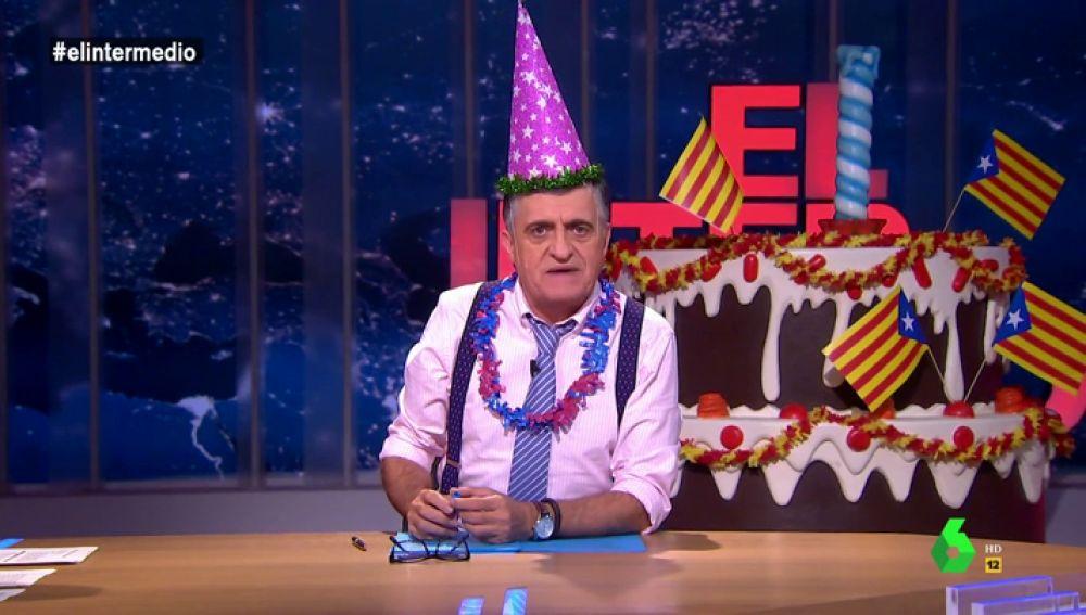 """Los diez segundos de celebración de la república catalana: """"No se queje Puigdemont, lo hemos celebrado cinco veces más de lo que duró"""""""