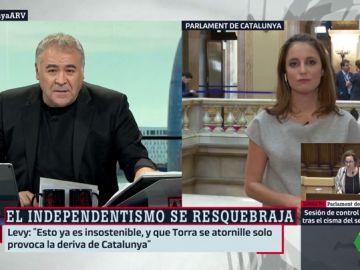 Antonio García Ferreras y Andrea Levy