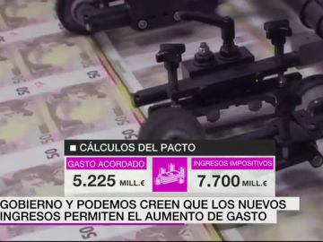 Podemos y PSOE calculan que el acuerdo incluirá más ingresos que gastos