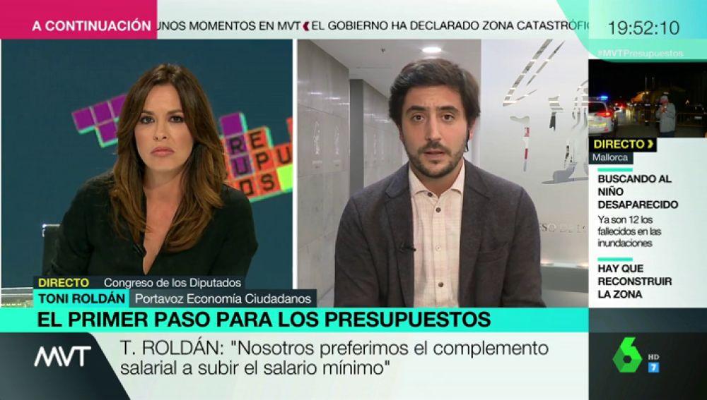 """Toni Roldán, tras el acuerdo entre Gobierno y Podemos: """"Esto no son unos Presupuestos, es una carta a los Reyes Magos"""""""