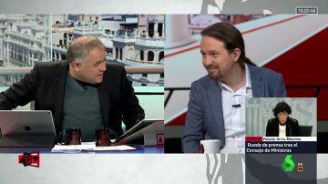 Antonio García Ferreras y Pablo Iglesias