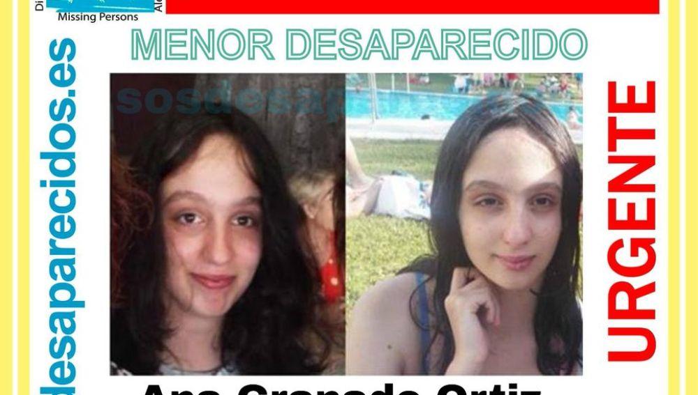 Ana Granado Ortiz, la menor desaparecida en Huelva