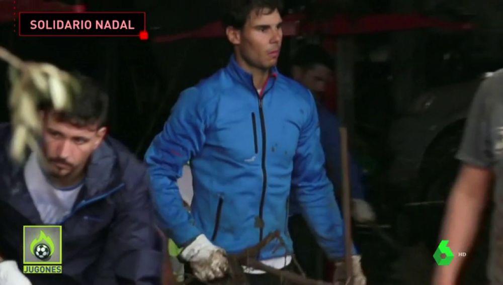 Rafa Nadal ayudó a sus vecinos tras las inundaciones en Mallorca