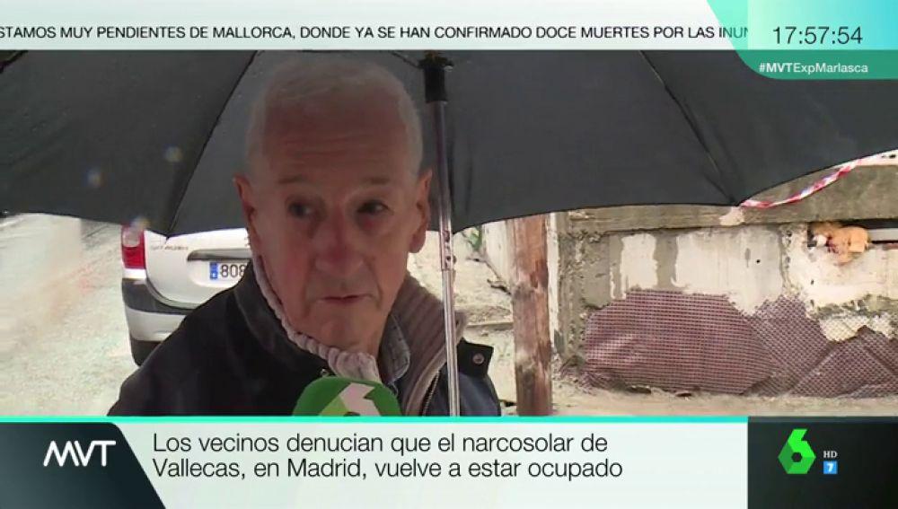 """Crece la indignación de los vecinos del 'narcosolar' en Vallecas: """"No quiero que eso esté en el barrio. Estamos hasta las narices"""""""