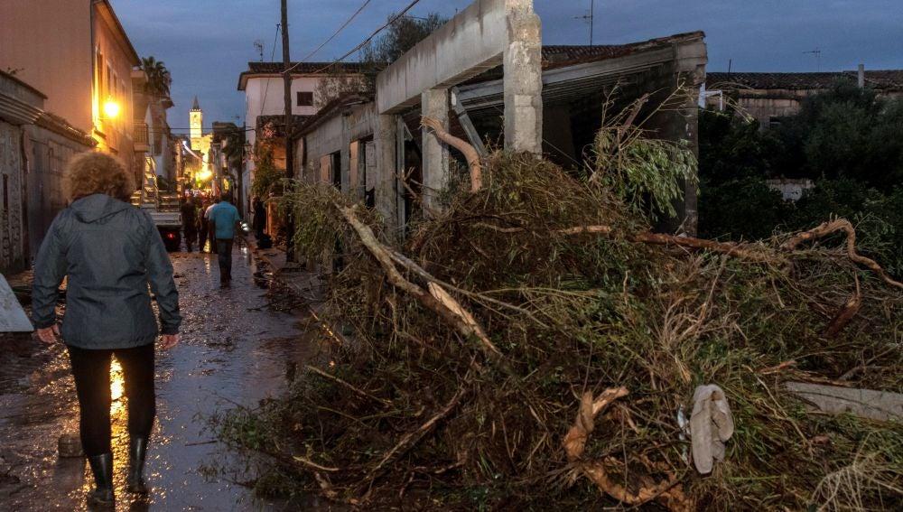 Vista de una de las calles de la localidad mallorquina de Sant Llorenç