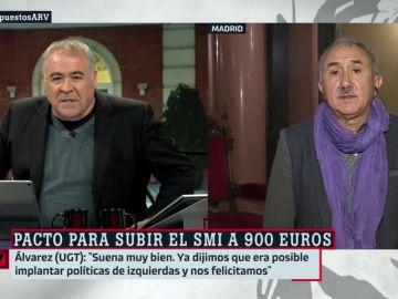 Antonio García Ferreras y Pepe Álvarez