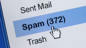 Bandeja de spam en el email