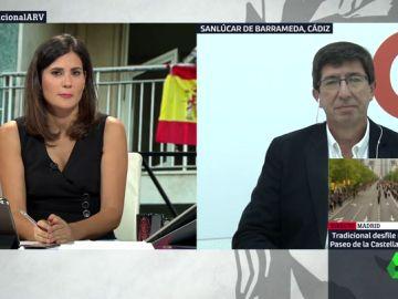 """Juan Marín, sobre la manifestación de que encabezan C's, VOX y PP: """"No es una cuestión de quién está al frente, sino de qué está representando"""""""