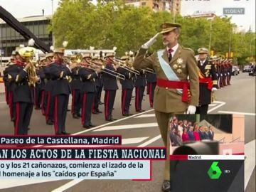 """Los reyes presiden una Fiesta Nacional marcada por la división política y la ausencia del """"Orgullosos de ser españoles"""""""