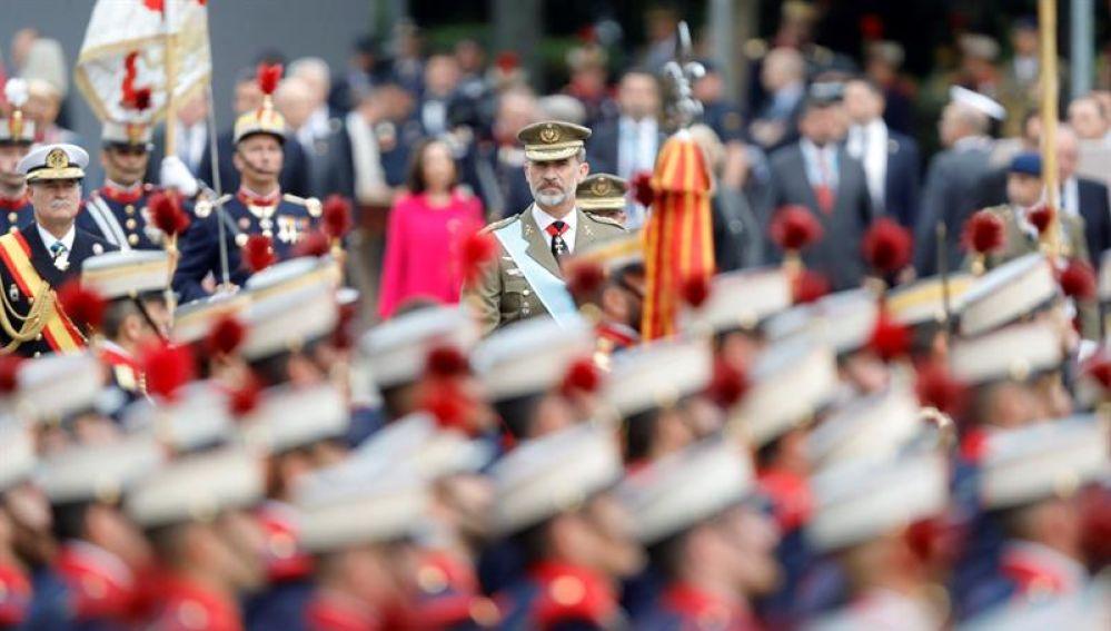 El Rey Felipe VI, en el desfile del 12 de octubre