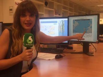 El centro nacional de huracanes en Miami actualiza la información del huracán Leslie y le da una trayectoria que le sitúa en el golfo de Cádiz