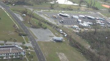 Imagen de la destrucción del huracán Michael en Florida