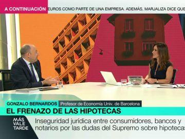 """Gonzalo Bernardos: """"Hay bancos que no pueden permitirse el lujo de no dar hipotecas. No pueden cerrar el grifo"""""""