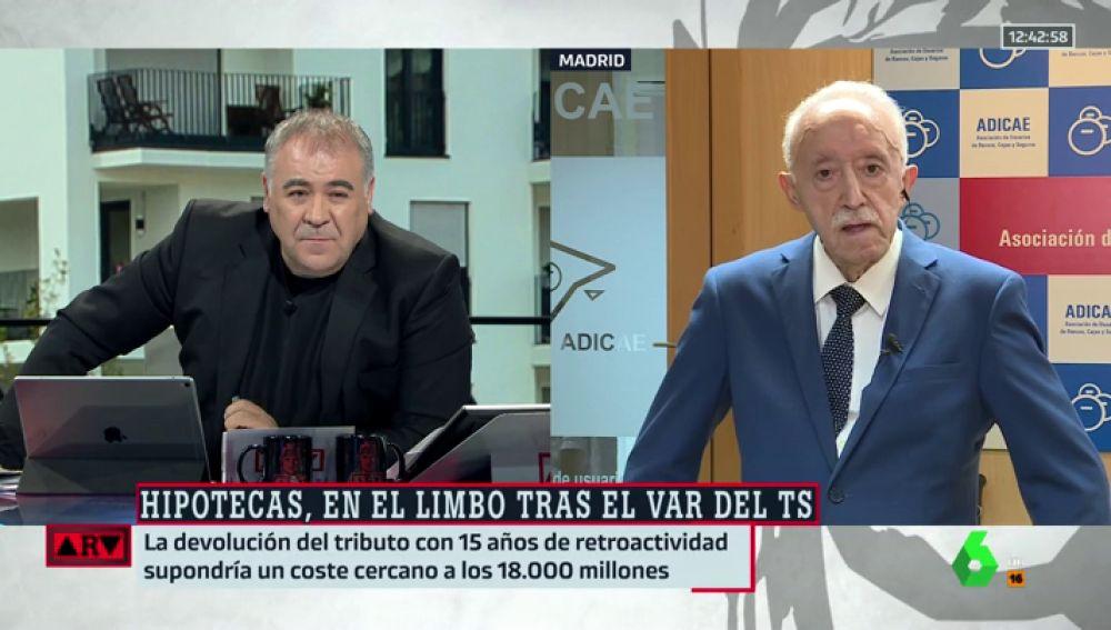 Antonio García Ferreras y Manuel Pardos, presidente de Adicae