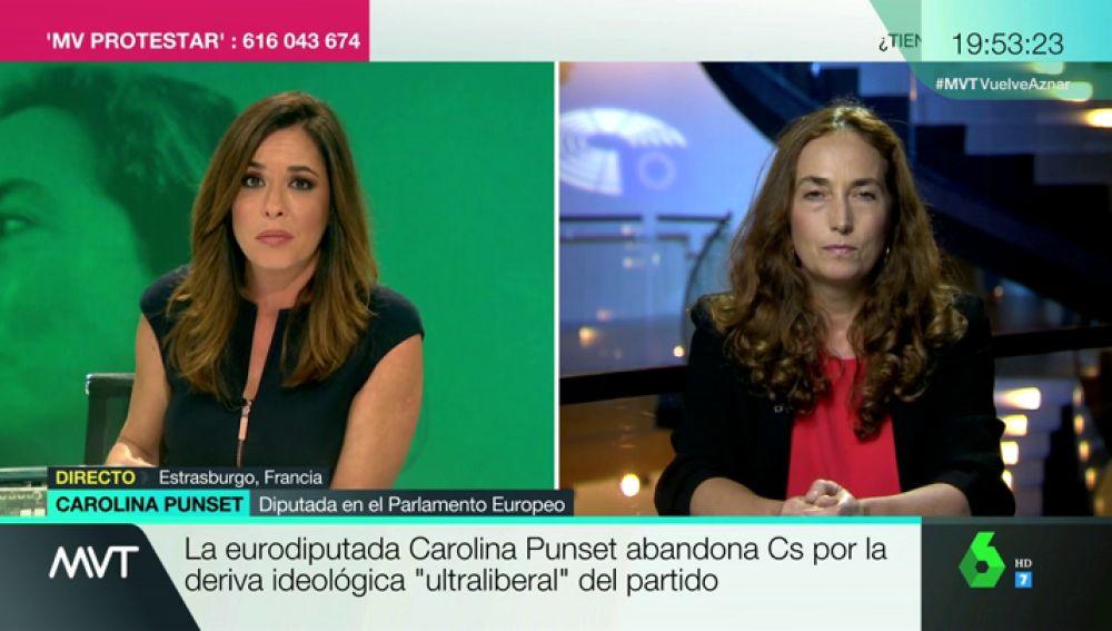 """Carolina Punset, tras abandonar Ciudadanos: """"Yo no soy de sacar la bandera española ni de dar besitos a Marta Sánchez"""""""